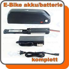 Akku Ebike E-Bike 36V 17,0ah Lithium-Ionen schwarz 613Wh Ladegerät LED Batterie