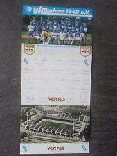 Mannschaftsbild Autogrammkarte VFL Bochum Saison 1986/87 Rarität.