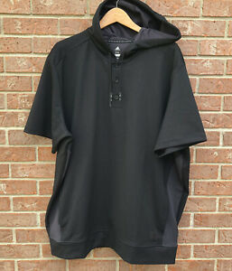 NWT Adidas Adicross Golf Short Sleeve Hoodie Mesh Dark Gray Men Size 2XL