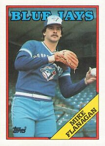 Mike Flanagan Toronto Blue Jays 623 1988 Topps Vintage Baseball Card