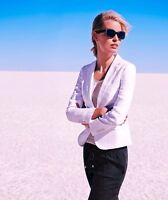 NWT $269 SPORTSCRAFT Molly Linen Blazer JACKET  Jacaranda LILAC  SZ 10-18 Avail