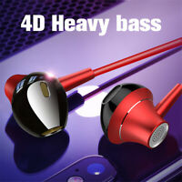3.5mm HIFI Super Bass Headset In Ear Earphone Stereo Earbuds Headphone Wired Mic