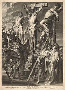Peter Paul Rubens: Jesus Crucified, Le Coup de Lance - Bolswert - Fine Art Print