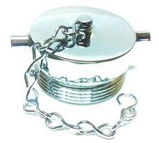 "2-1/2"" Fire Hose Hydrant Plug with Chain Polished Chrome (Solid Brass FDC Plug)"