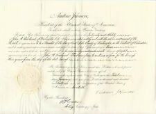 Andrew Johnson 1866 Document Signed as President - Rare Appointment