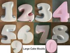 Lge Number 0123456789 Silicone Birthday Jelly Cake Baking Tray Mold Mould Party