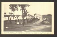 Unused Postcard Photo Floyds Motel on US I26 Breezewood Pennsylvania PA