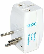 Ceptics Type H 3 Outlet Travel Adapter Plug For Power Charger Use In Israel