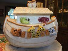 Vintage Noahs Ark Treasure Craft Cookie Jar USA