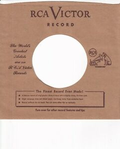RCA Company Reproduction Record Sleeves -  Early 1950s  ( pack of 10 )