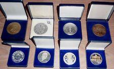 Sammlung 8 Medaillen im Etui - mit Martin Luther,Goethe,Papst,Bayern,Berlin