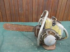 "Vintage PIONEER F&M Chainsaw Chain Saw with 15"" Bar with Log Spike"