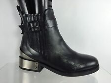 Topshop Premium Womens Black Leather Ankle Boots 36