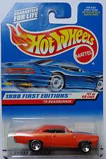 1998 Hot Wheels First Edition '70 Roadrunner 17/40 (5 Spoke Hub Wheels)