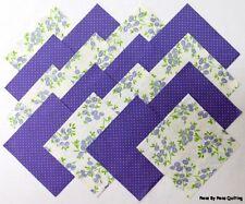 """24 5"""" LAVENDER BOUQUET Fabric Quilt Squares Quilting Purple Floral Cotton Blocks"""