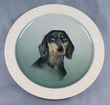 Dackel Porzellan teller  dachshund figur hund Kästner Saxonia sehr selten 1940