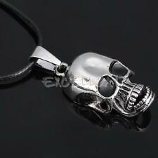Movable Skull Jaw Pendant Necklace Boy Girl Jewelry Titanium Steel Cool Gift