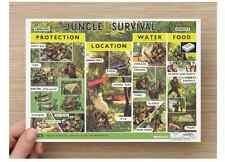 ROYAL AIR FORCE RAF Training  'Jungle Survival' A5 Postcard NEW 1979