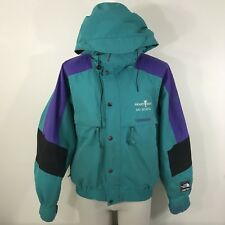 VTG 90s North Face Gore-Tex Men's Jacket M Teal Purple Ski School Stained Winter