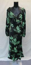 Asos Women's Sweetheart Tropical Print Maxi Dress AN3 Black Size US:4 UK:8 NWT