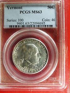 1927  U.S. VERMONT Commemorative Half $ - MS63 (PCGS) stk#4695