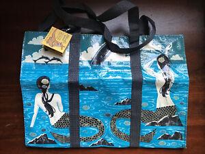 Blue Q Funny Novelty Shoulder Tote/Reusable Shopping Bag, Mermaid, Blue, New