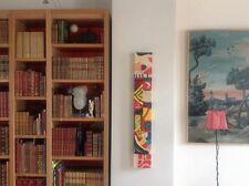 ECOLE MODERNE.Composition abstraite.Circa 1980.Acrylique/bois.100x15x4.