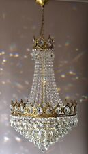 French Empire Crystal Chandelier Antique Vintage Ceiling Lighting Pendant Lamp