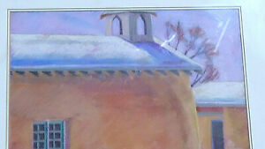 """Pastel by Alice Webb classic Santa Fe piece Called """"Winters Pink light"""""""