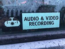 DASH CAMERA WARNING STICKER x 2 RECORDING CAR STICKER DECAL CCTV HD CAMERA CAM
