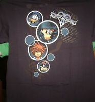 KINGDOM HEARTS 2 BUBBLES T-SHIRT L LARGE LG NEW 3D DREAM DROP DISTANCE
