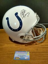 PEYTON MANNING Signed Full Size Indianapolis Colts Replica Helmet MM autograph