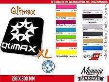 Qlimax 250x300mm XL Aufkleber, Sticker, Autocollant, Étiquette Q-Dance, Hardcore
