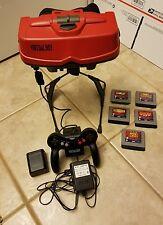 Nintendo Virtual Boy VB Red & Black Console Bundle System - READ **AS IS**
