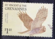 Ural Owl, Birds of Prey, St. Vincent & Grenadines 2001 MNH