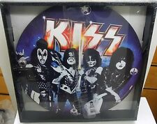 "KISS 13.5""  DECOUPAGE WALL CLOCK BY VANDOR"