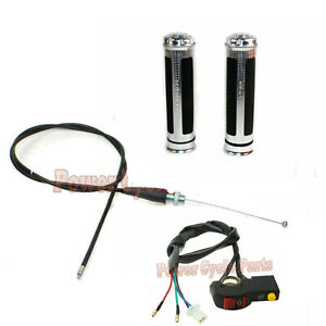 Hand Grips Throttle Cable Baja Mini Bike MB165 5.5hp MB200 6.5hp Warrior Heat