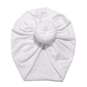 Girls Boys Kids Toddler Infant Turban Caps Bowknot Donuts Head Wrap Beanie Hats