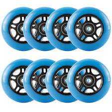 80mm Roller Blade Wheels, Inline Skate Wheels Replacement with Bearings, Blue