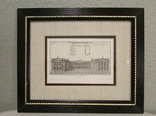Framed King's College Cambridge Architect Plan Jacobo Gibbs Publick Building