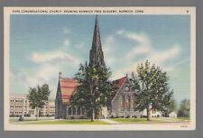 [52730] 1948 POSTCARD PARK CONGREGATIONAL CHURCH IN NORWICH, CONNECTICUT