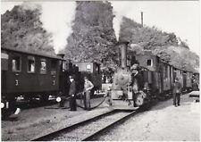 Lokalbahn Aktien-Gesellschaft LAG Dampfzüge an Kreuzung in Donaustauf AK 1952
