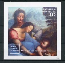Antigua & Barbuda 2015 MNH World Famous Paintings 1v Imp S/S II Da Vinci Stamps