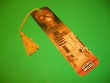Star Wars Book Mark ~ Episode 1 ~ C-3PO & R2-D2 ~ With Tassle