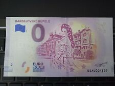 BILLET EURO SOUVENIR SLOVAQUIE 2018-1 BARDEJOVSKE KUPELE