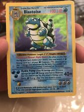 SHADOWLESS BLASTOISE Pokemon Base Set 2/102 - LP/PL