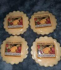 YANKEE CANDLE - ISLAND MANGO TARTS / MELTS~ Set Of 4 $$FREE SHIP$$