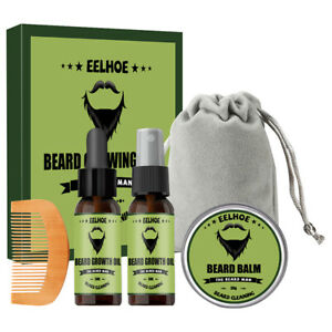 Beard Care Kit Comb Beard Oil Beard Spray Balm Conditioner Mustache Grooming