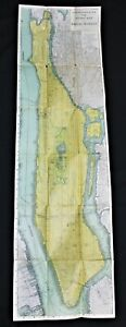RAND MCNALLY MANHATTAN NEW YORK CITY STREET ROAD MAP 1910 VINTAGE