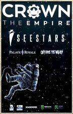 CROWN THE EMPIRE I SEE STARS Tour 2017 Ltd Ed RARE Poster+FREE Metal Punk Poster